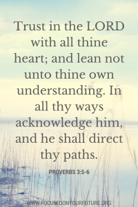Trust in the LORD with all thine heart;